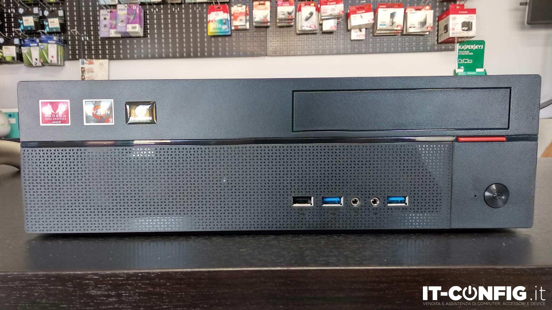 Compact SSF PC Ryzen R3-3200G-8GB-500GB